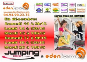 Jumping fitness, cours de trampoline